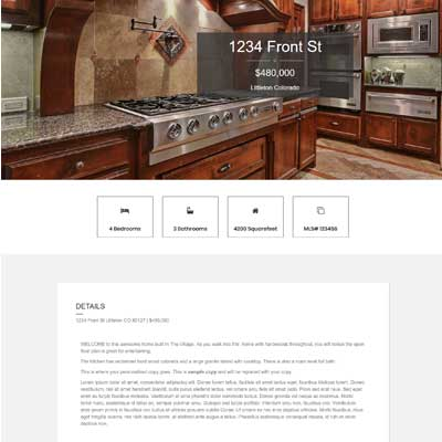 Oak Lane Single Property Websites