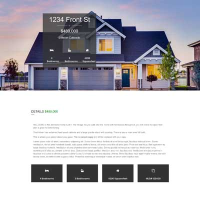 Pine Lane Single Property Websites